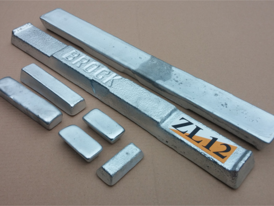 Zinc Aluminium Alloy ZL12 Ingots (Various Weights)